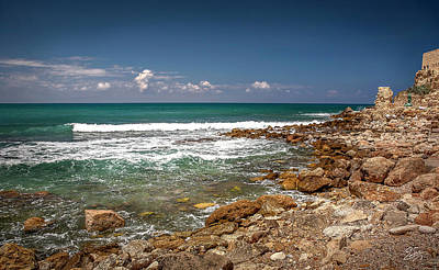 Photograph - The Mediterranean Sea At Caesarea by Endre Balogh
