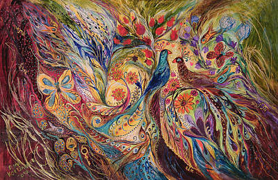 Kabbala Painting - The Mediterranean Summer by Elena Kotliarker