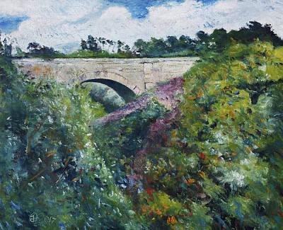 Painting - The Meenacuing Railway Bridge At Gweedore Ireland 2017 by Enver Larney