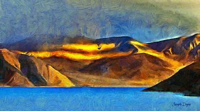 Valleys Digital Art - The Meering Point - Da by Leonardo Digenio