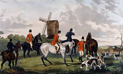 Foxes Drawing - The Meet by William Joseph Shayer