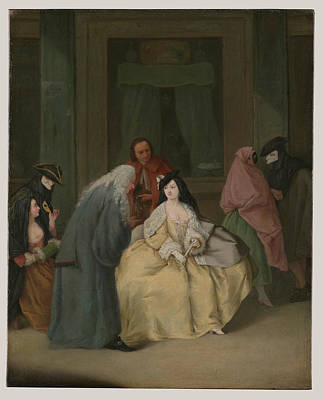 Pietro Longhi Painting - The Meeting by MotionAge Designs