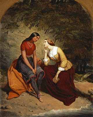 Painting - The Meeting Of Hetty And Hist by Tompkins Harrison Matteson