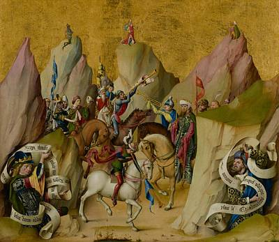 Trumpet Painting - The Meeting Of The Three Kings With David And Isaiah by Mountain Dreams