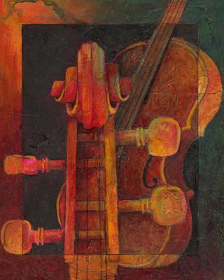 The Mellow Cello Art Print by Susanne Clark