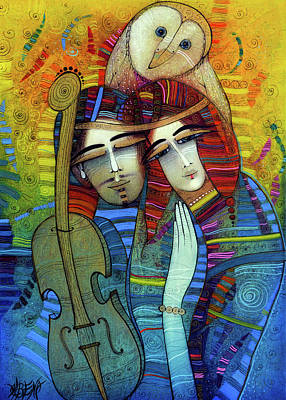 Painting - The Melody Of Happiness by Albena Vatcheva