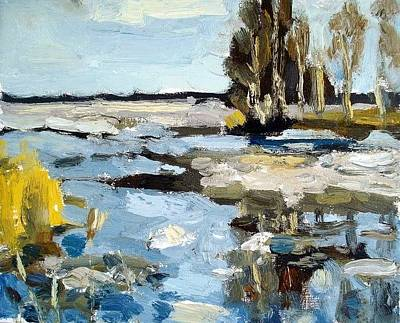 Ice Melting Painting - The Melting Ice by Assol Agaidarova