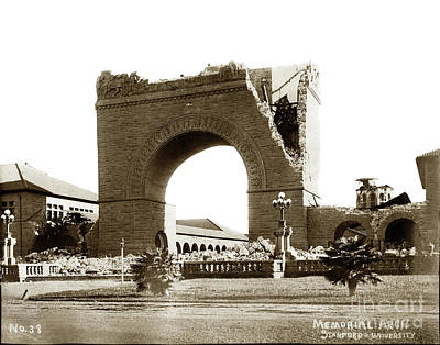 Photograph - The Memorial Arch At Leland Stanford, Jr., University April 18,  by California Views Mr Pat Hathaway Archives