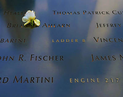 Photograph - The Memorial At Ground Zero 023 by Jeff Stallard