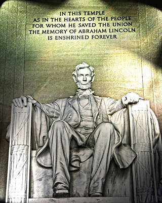 Photograph - The Memory Of Abraham Lincoln by Mike Braun