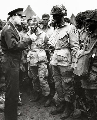 The Men Of Company E Of The 502nd Parachute Infantry Regiment Before D Day Print by American School