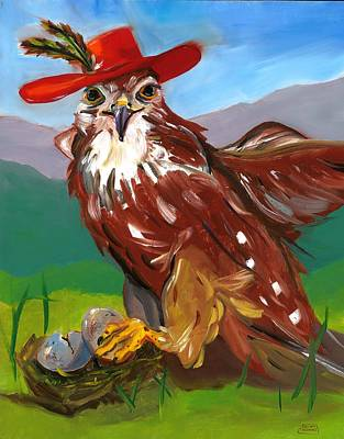 Painting - The Merlin by Susan Thomas