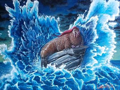 Surreal Painting - The Mermaid by Luke Horowitz
