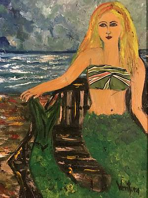 Painting - The Mermaid Of Kanaha Pond by Clare Ventura