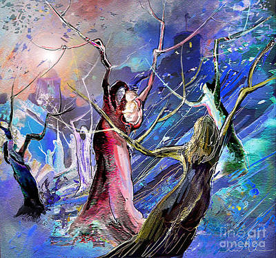 Birth Mixed Media - The Messiah Is Born by Miki De Goodaboom