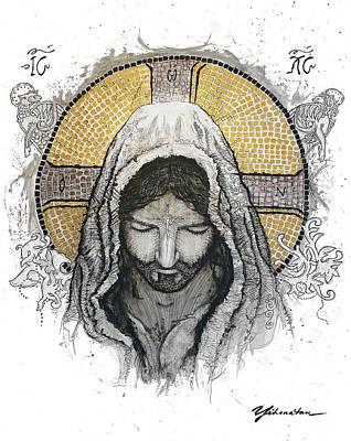 Jesus Christ Drawing - The Messiah by Jonathan Edward Shaw