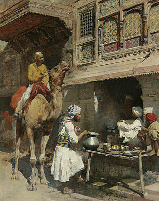 Marrakesh Painting - The Metalsmith's Shop  by Edwin Lord Weeks
