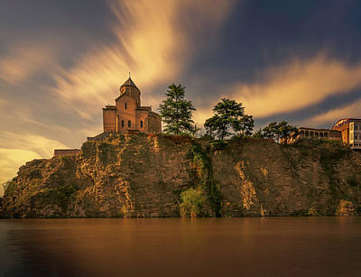 Tbilisi Photograph - The Metechi Above The River by John Wright