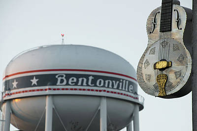 Photograph - The Meteor Guitar And Bentonville Tower by Gregory Ballos