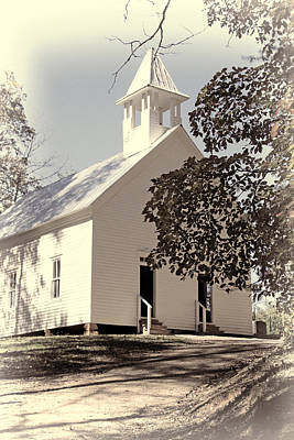 Photograph - The Methodist Church Of Cades Cove by HH Photography of Florida