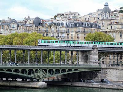 Art Print featuring the photograph The Metro On The Bridge by Yoel Koskas