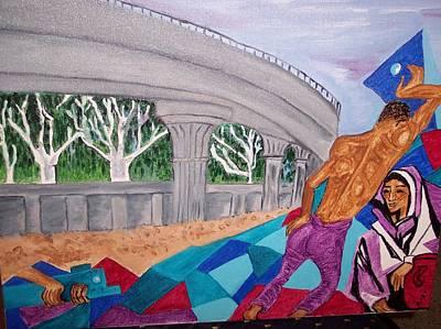Woe Painting - The Metro Railway by Iris Devadason