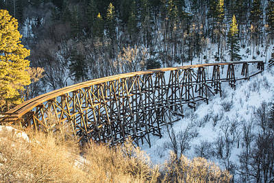 Photograph - The Mexican Canyon Trestle by Racheal Christian