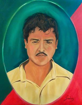 Painting - The Mexican by Manuel Sanchez