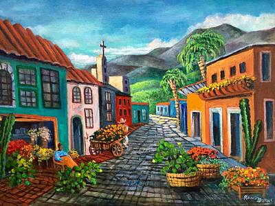 Painting - In Love With Old Mexico by Randol Burns