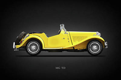 Vintage Mg Photograph - The Mg Td by Mark Rogan