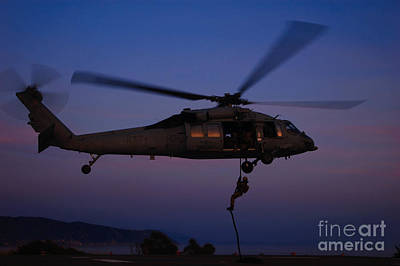 The 60s Painting - The Mh-60s Sea Hawk Helicopter  by Celestial Images