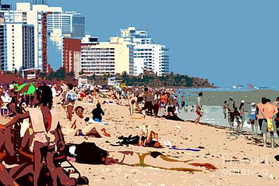 The Miami Beach Art Print by David Lee Thompson