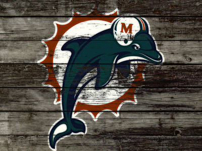 The Miami Dolphins C3   Art Print by Brian Reaves