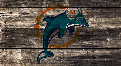 The Miami Dolphins W1 Art Print by Brian Reaves