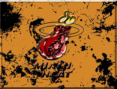 The Miami Heat 1a Art Print by Brian Reaves