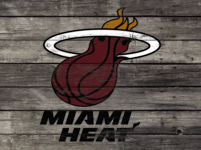 The Miami Heat 3a Art Print by Brian Reaves