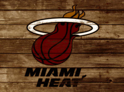 The Miami Heat 3b Art Print by Brian Reaves