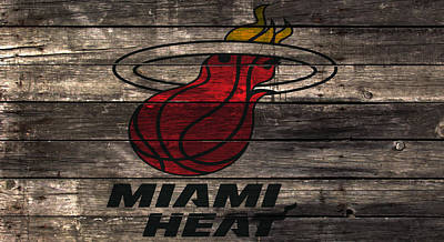 The Miami Heat W1 Art Print by Brian Reaves