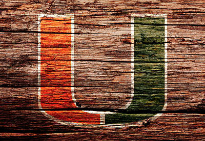 The Miami Hurricanes 1a Print by Brian Reaves