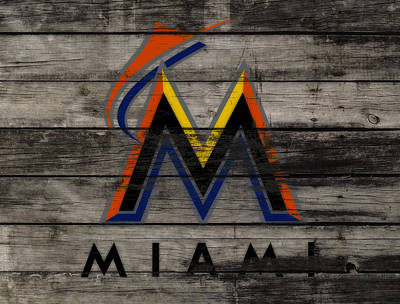 Astros Mixed Media - The Miami Marlins 1a by Brian Reaves