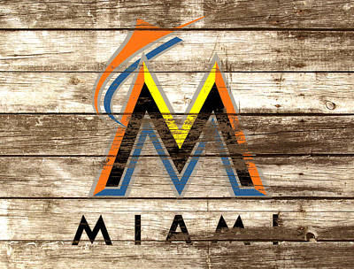 Astros Mixed Media - The Miami Marlins by Brian Reaves