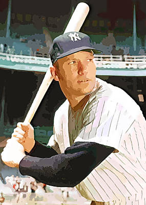 Mickey Mantle Digital Art - The Mick by George Curcio