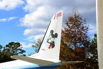 Photograph - The Micke Mouse Jet Tail by David Lee Thompson