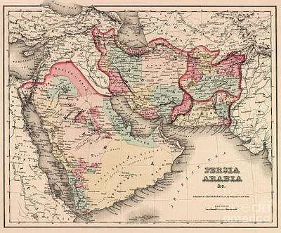 Persia Drawing - The Middle East In The Mid 19th Century by English School