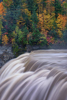 Photograph - The Middle Falls by Rick Berk