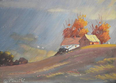 Painting - The Middle Farm 2 by Len Stomski