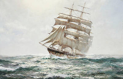 Calming The Storm Painting - The Middlesex by Montague Dawson