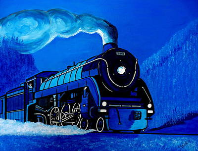 Painting - The Midnight Express by Pj Artman