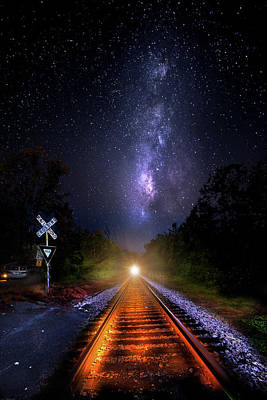 Photograph - The Midnight Milky Way Express by Mark Andrew Thomas