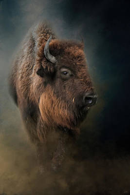 Photograph - The Mighty Bison 3 by Jai Johnson